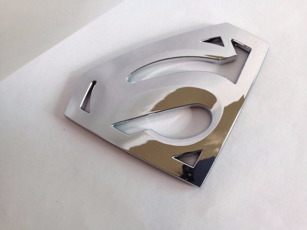 3D  chrome emblem Auto logo Superman badge ABS Motorcycle accessories Car styling Funny car stickers