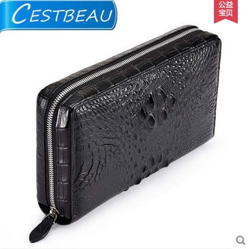 cestbeau 2018 new boss large capacity male bags  real crocodile men clutch bag men bag