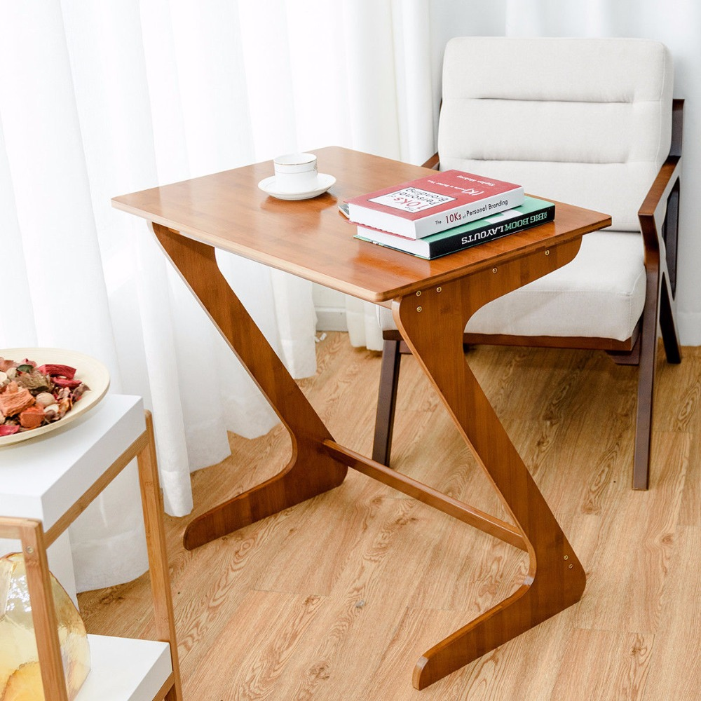 Tv Side Table.Us 59 99 Giantex Bamboo Sofa Table Tv Tray Laptop Desk Coffee End Table Bed Side Snack Table New Home Furniture Hw58528 On Aliexpress