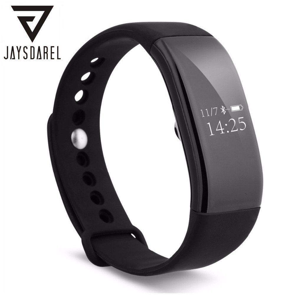 JAYSDAREL V66 Heart Rate Monitor Smart Watch OLED IP68 Waterproof Wristband Smart Bracelet Fitness Tracker for Android iOS sports fitness tracker smart watch bracelet i7 bluetooth 4 0 wristband waterproof health heart rate monitor