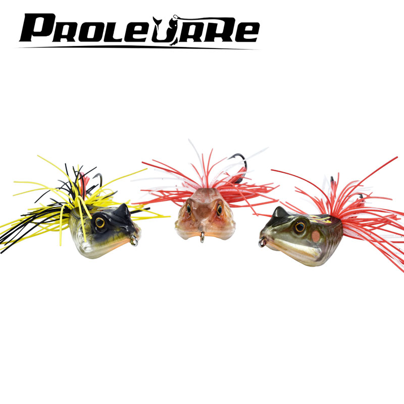 ProLeurre 3D Frog Lure fishing tackle 12.5g Minnow lure Crank Lures Mix fishing bait Frog Fishing lure Catch blackfish dedicated y0018 wholesale ray frog sets playing blackfish bait lures bait floating frog bait fishing