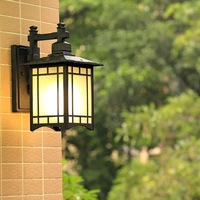 HAWBERRY LED outdoor waterproof creative lotus shape coffee shop wall lamp retro American style indoor stairwell corridor light