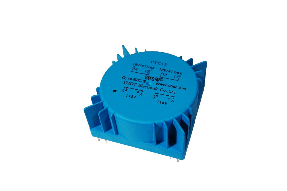 15VA Output 2x18V Input 115V or 230V 1PCS Toroidal Power Transformer