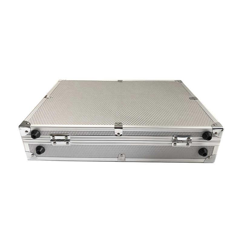 Aluminium Tool Case Outdoor Veiligheid Apparatuur Doos Draagbare Veiligheid Instrument Case Koffer Draagbare Gereedschapskist 370x285x 80mm