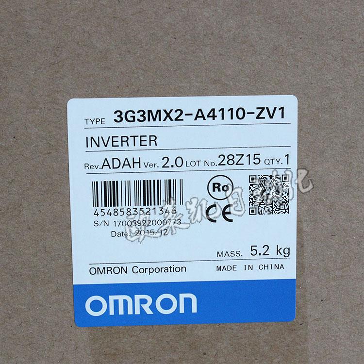 OMRON inverter 3G3MX2-A4110-ZV1 380V/11KWOMRON inverter 3G3MX2-A4110-ZV1 380V/11KW