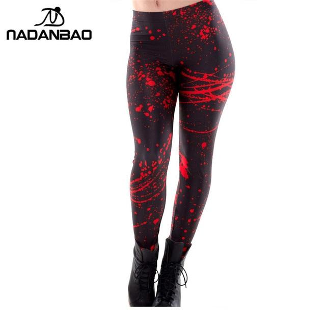 NADANBAO Новый Черный Брызги Печати Женщины Брюки Тощий Длинный Женщина леггинсы женские брюки