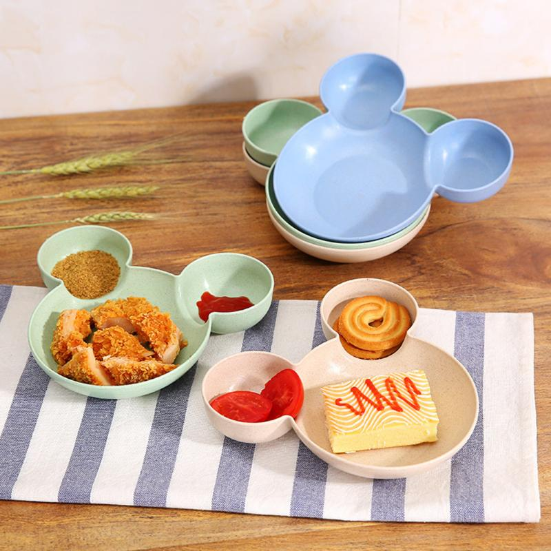 winnereco Mickey Dishes Rice Bowl Plastic Plate Tableware