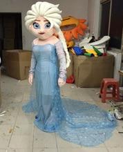 New Arrival Adult elsa Mascot Costume  anan princess mascot costume smiling Olaf