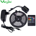 Waterproof RGB LED Strip 3528 300leds 5M SMD Music Remote Controller 12V 2A Power Adapter Flexible LED Light Ledstrip