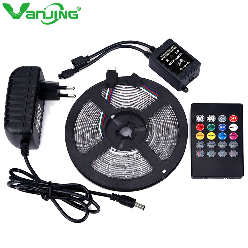 Waterproof RGB LED Strip 3528 300leds 5Ms
