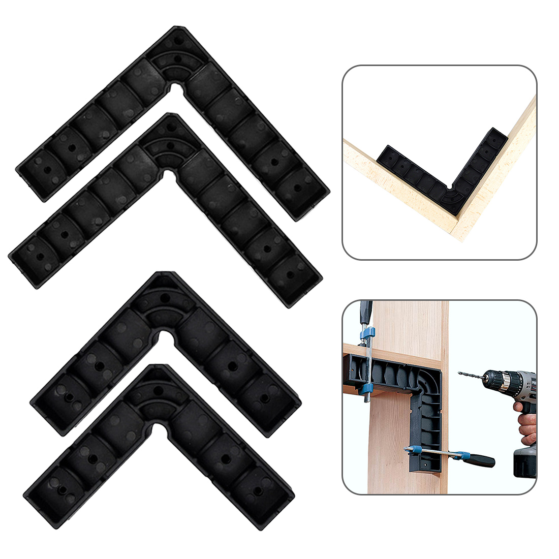 2pcs 90 Degree Right Angle S L Positioning Block Jig Clamp Strong Clamping Force Woodworking Tools in Clamps from Home Improvement