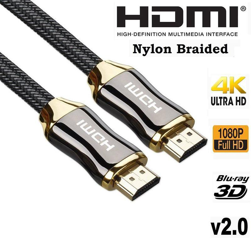 EastVita Zinc Alloy HDMI Cable Ultra HD 1.5/3/5/ Meters HDMI Cable V2.0 2K x 4K  High Speed + Ethernet HDTV