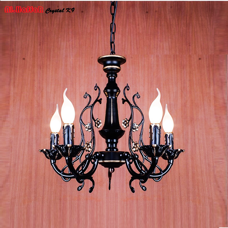 Modern Iron Pendant Chandelier Lighting Antique New Model 2017 lights Chandelier Ceiling Lamp Candle Lights Home Light wrought new e14 arrival nordic cage pendant lamp abstract wrought iron pendant lights candle 4 light source ems free shipping