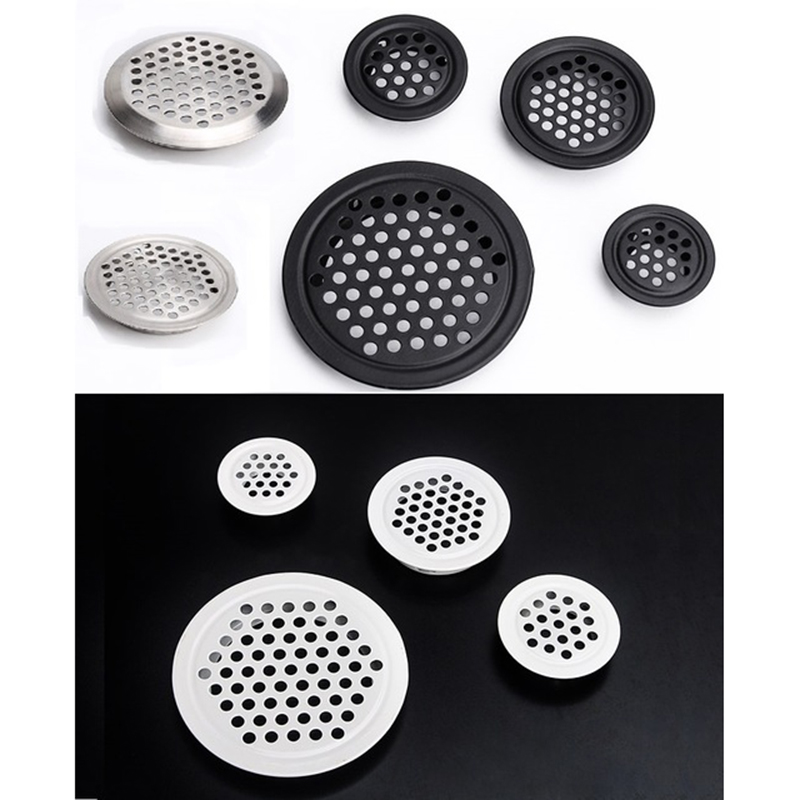 30Pcs/Lot Round Stainless Steel Air Vent Ventilator Grille For Closet Shoe Cabinet
