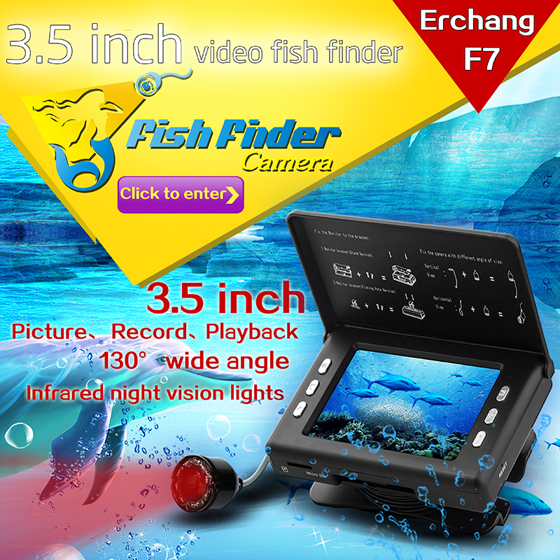 ФОТО Professional Fish Finder Underwater Fishing Video Camera Monitor 130 Degree 3.5'' HD Color Digital LCD Fish Camera For Fishing