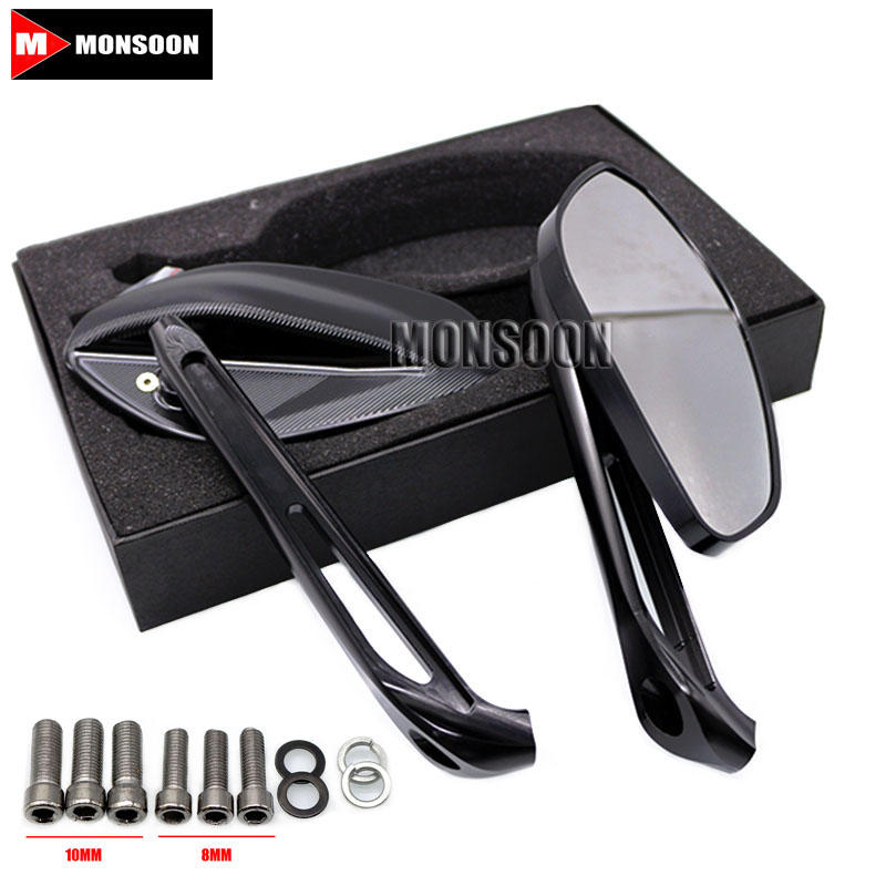 Motorcycle Accessories Rearview Side Mirrors For DUCATI 695 696 796 1100 1200 Black motorcycle rear side view mirrors a pair brand new high quality for ducati monster 695 696 796 black