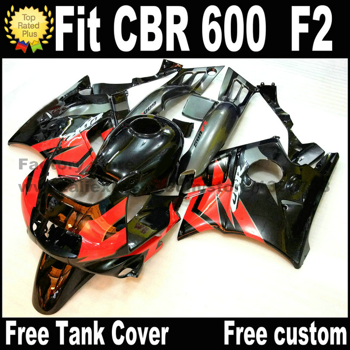 Full fairing kit for HONDA CBR 600 F2 1991 1992 1993 1994 CBR600 91 92 93 94 red black bodywork fairings set AS11 unpainted white injection molding bodywork fairing for honda vfr 1200 2012 [ck1051]