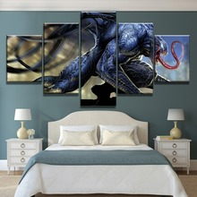 New 5 Piece HD Print Venom Marvel Comics Poster Cuadros Decoracion Paintings on Canvas Wall Art for Home Decorations Wall Decor marvel comics universe poster