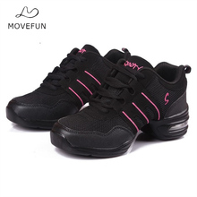 New Soft Outsole Breath Dance Shoes Women Sports Feature Dance Sneakers Jazz Hip Hop Shoes Woman Dancing Shoe Zapatos movefun 61
