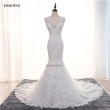 EBDOING Wedding Dress 2017 V-neck Neckline