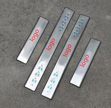 blue LED scuff plate door sill covers for <font><b>Mazda</b></font> <font><b>3</b></font> M3 <font><b>2007</b></font> 2008 2009 2010 2011 2012 car styling auto <font><b>accessories</b></font> image