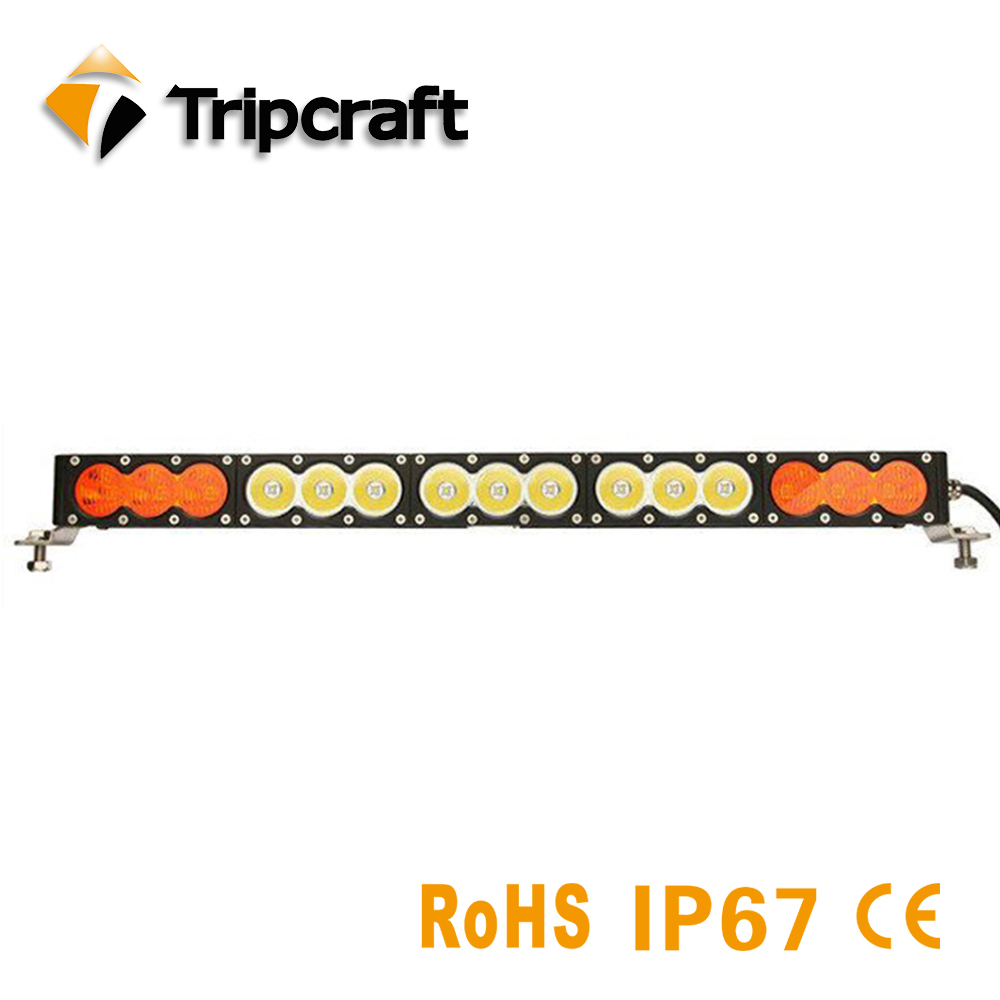 120W Single Row Led Light Bar Amber White Led Work Light Bar Off Road Driving Fog Lamp for SUV ATV Truck 4x4 IP68 waterproof