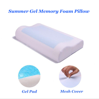 Cool Gel Pillow Memory Foam Summer Ice cool Anti snore Neck Orthopedic Sleep Pillow Cushion+Pillowcover