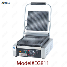 EG811/EG813/EG815 Single/Double Plate Commercial Electric Table Top Panini Grill Machine of Catering Equipment