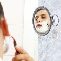 173 ملليمتر 360 درجة الدورية الحلاقة fogless مرآة الحمام مرآة مستديرة مع قفل شفط مكافحة الضباب مرآة الزخرفية