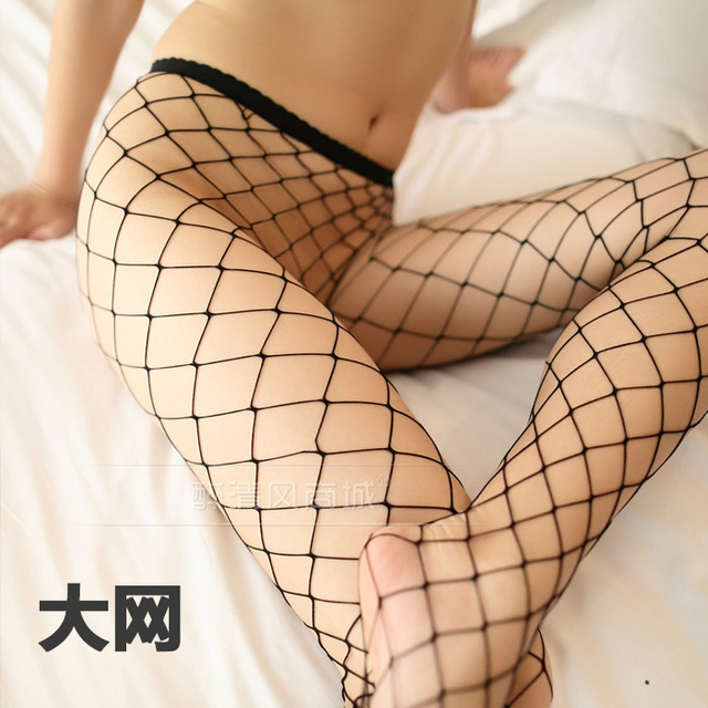 Envío gratis Sexy estilo de malla sexy medias de malla pantimedias medias negras finas tentaciones lencería sexy 8370