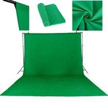 3 × 4メートル綿クロマキーモスリンの背景のバックドロップ写真スタジオ照明ソリッドカラー写真スタジオグリーンスクリーン