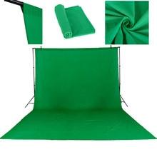 3X4เมตรผ้าฝ้ายC Hromakeyมัสลินฉากหลังพื้นหลังสตูดิโอแสงสีทึบสตูดิโอถ่ายหน้าจอสีเขียว