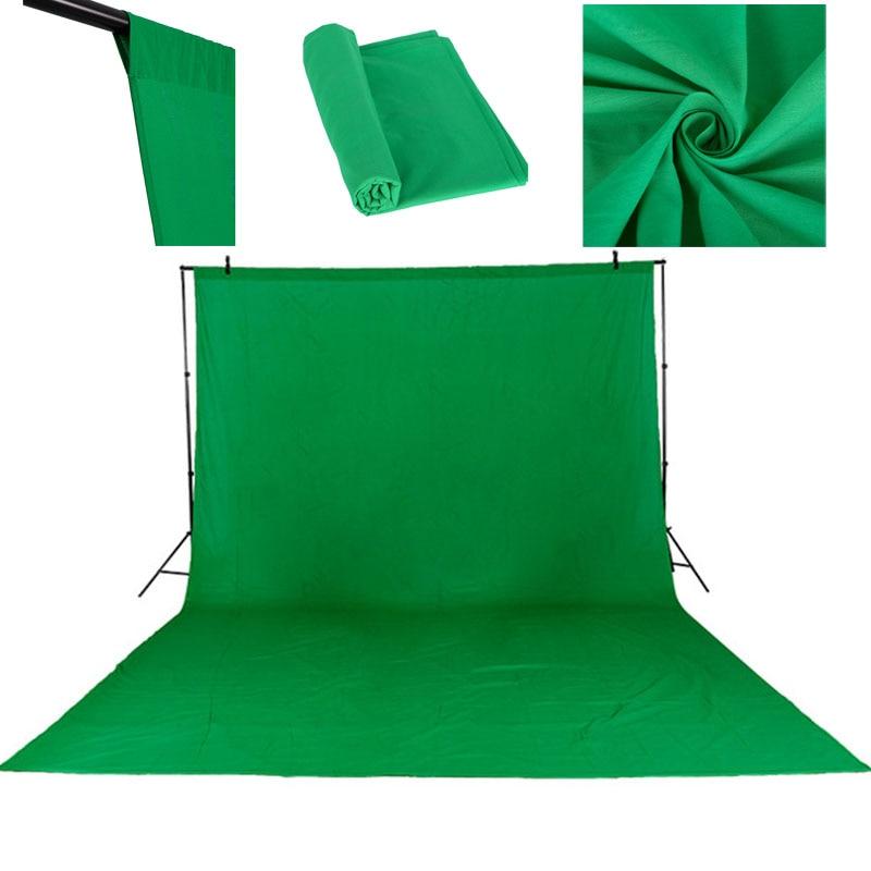 3X4 M Coton Chromakey Muslin Fond Décors Pour La Photographie Studio Éclairage Solide Couleur Photo Studio Vert Écran