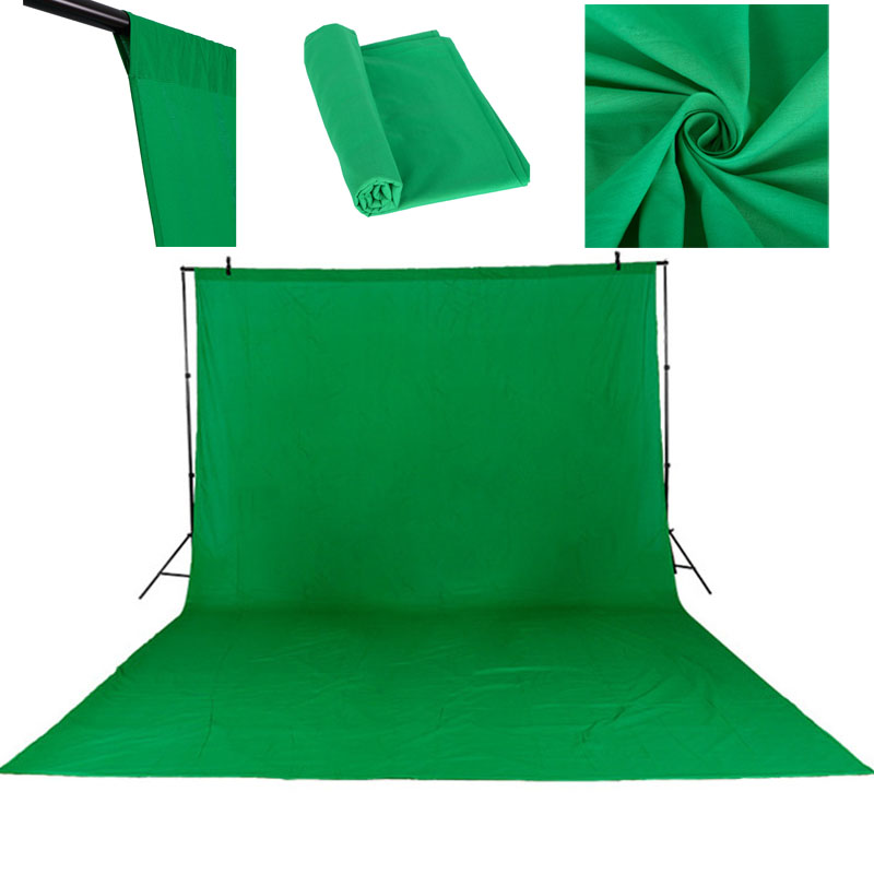 3X4M Cotton Chromakey Muslin Background Backdrops For Photography Studio Lighting Solid Color Photo Studio Green Screen 4x 1kg bag refill laser copier color toner powder kit kits for ricoh aficio mp c2530 c2051 c2551 mpc 2030 2010 2050 2550 printer