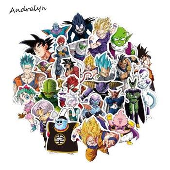 36 шт./лот аниме Dragon Ball Наклейки Супер Saiyan Goku Наклейки для ноутбука автомобиля скейтборд pad Велосипедный спорт телефон наклейка ПВХ Стикеры