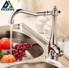 New Chrome Kitchen & Basin Faucet Bathroom Mixer Taps w/ Single Ceramics Handle Deck Mount