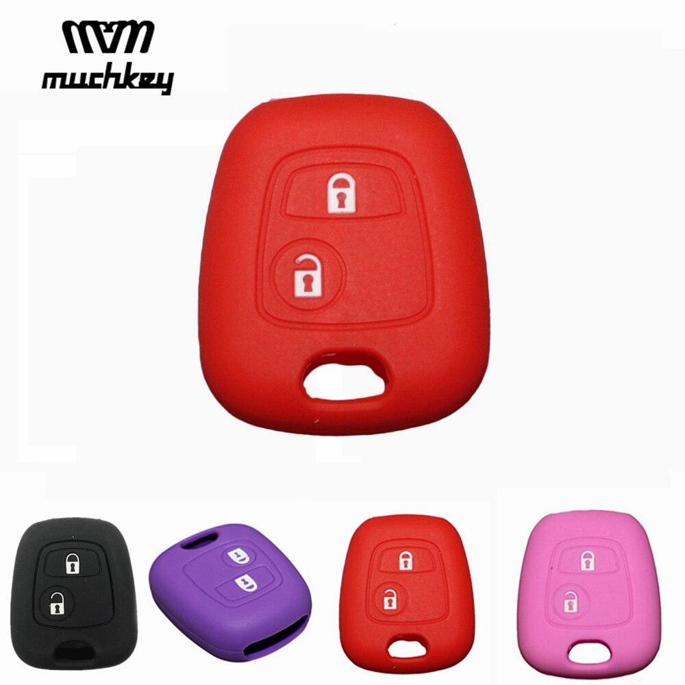 For Citroen C2 C3 C4 Peugeot 107 207 307 407 607 306 405 Key Protect Case Car Accessories Key Case Bag Key Cover Car-styling
