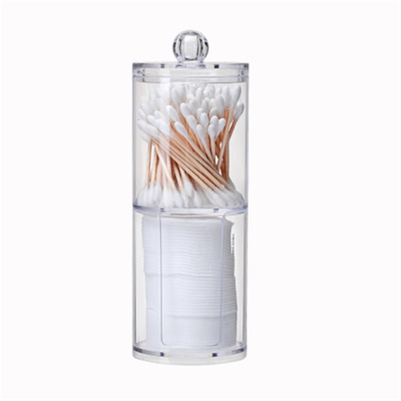 Case Storage-Box Makeup-Organizer Cosmetic Clear Cotton-Swab Acrylic Transparent High-Quality
