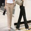2016 Белый воротник костюм брюки тонкий плюс размер повседневные брюки женские брюки вестерн женские брюки женские брюки комбинезоны