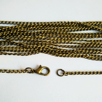 100piece lot antique bronze 2mm 16 18 20 22 24 26 32 inches link curb chain necklace for pendant jewelry accessories CCN008