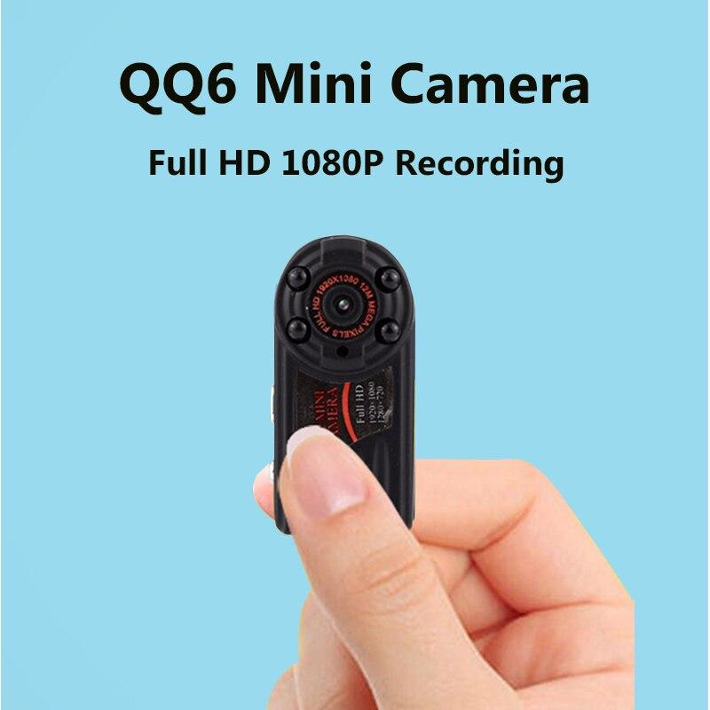 QQ6 Mini Camera Full HD 1080 Micro Camera Infrared Nigth Vision DV Camera Portable 12M Motion