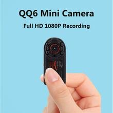 QQ6 мини Камера Full HD 1080 микро Камера инфракрасный Nigth Видение DV Камера Портативный 12 м движения Сенсор видеокамера espia