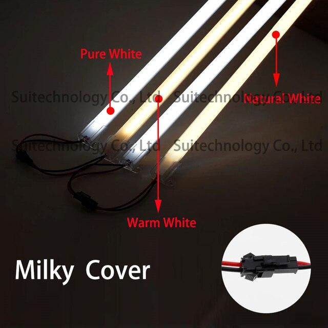 5pcs High Voltage AC220V drive-free double row 2835 hard light bar 50cm showcase mall store lighting project lighting LED strip
