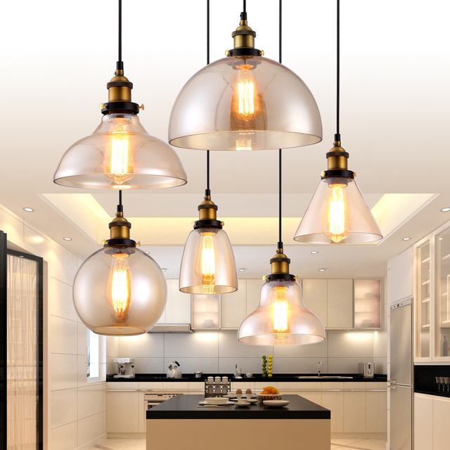 Hanglamp Pendant Lamp Copper Glass Restaurant Pendant Lights Vintage  Lighting Fixtures Suspension Luminaire Antique Glass Lamps