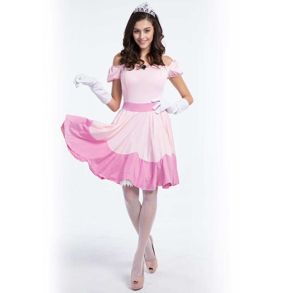 Pink Princess Fairy Tales Cosplay Costume Uniform Set Stage Holiday Festival