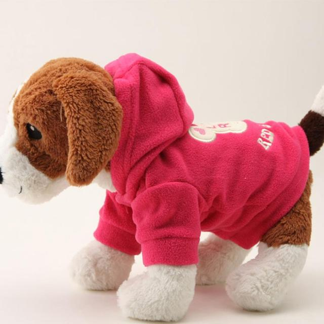 Hot New Small Dog Pet Clothes Cute Cartoon Bear Hoodie Warm Sweater Puppy Coat Apparel H1