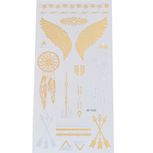 Best Selling Angel Wings Temporary Tattoo Sticker Golden Charm Archery Star Tattoo Sticker Women Body Finger Waterproof Tattoo цена