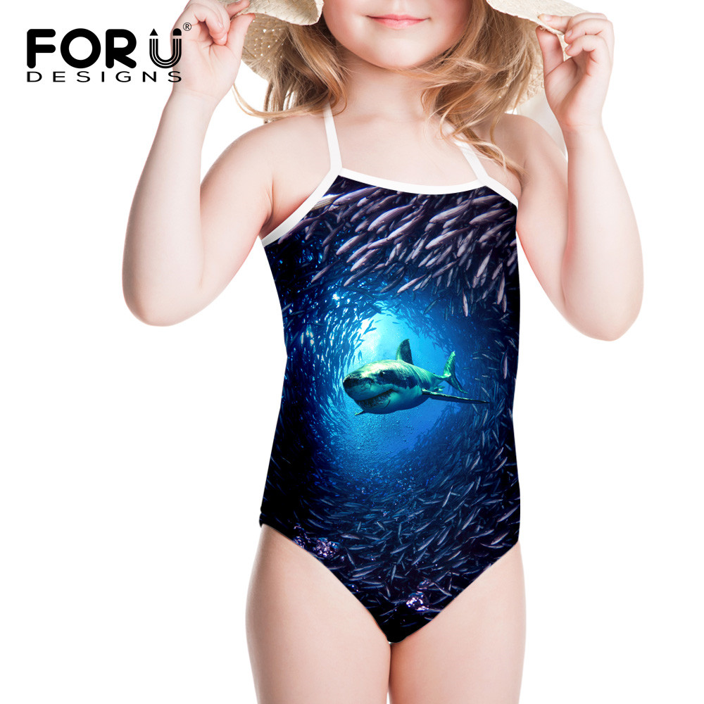 New Blue Sea Shark One Piece Swimsuit for Girls 2016 Summer Holiday Bathing Swimwear Infantil Swimming Wear For Bathers Children dg подушка с принтом summer holiday blue