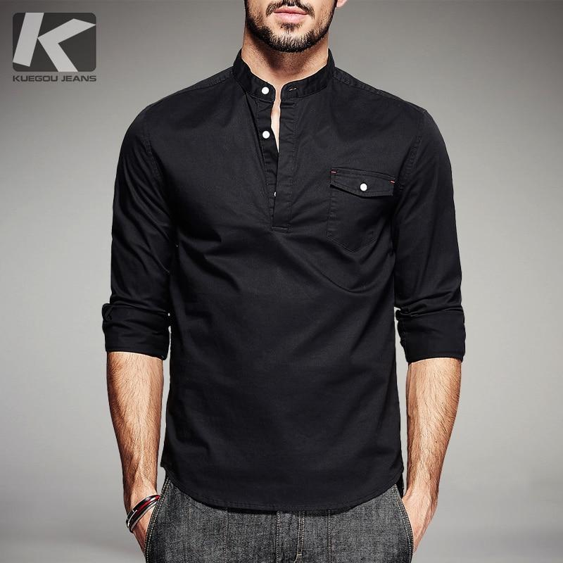 US Fashion African Mens Long Sleeve Casual Shirts Collar Slim Fit Dress Shirts G