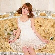 Princesa adorable Vestido de Lolita Candy rain verano japoneses nuevos estilo lindo clavo cuenta encaje bow vestido de talle alto con falda a partir de las costillas C15AB5728